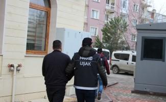 Uşak'ta uyuşturucu operasyonunda 2 gözaltı