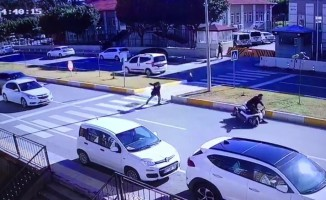 Yaya kaldırımında inanılmaz kaza!
