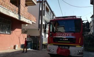 4 katlı binada çıkan yangın paniğe neden oldu