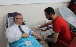 """""""Acil"""" kan bağışı çağrısına Elazığ polisinden destek"""