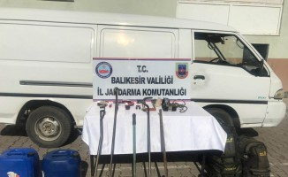 Balıkesir'de kablo hırsızı yakalandı