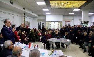 Başkan Işık, Yeşilada'da davullarla karşılandı