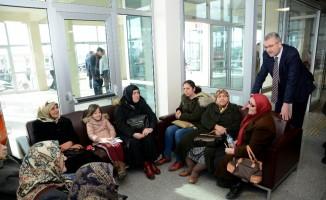 Başkan Özkan'dan hasta ziyareti