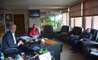 Başkan Yaman, Genel Müdür Yardımcısı Keser'le bir araya geldi