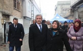 Belediye Başkanı Tahmazoğlu patlamanın yaşandığı mahallede