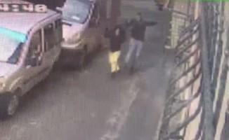 Beyoğlu'nda kadına şiddet kamerada
