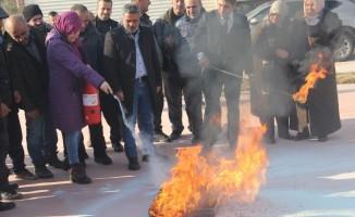 Dört ilçede yangın eğitimi ve tatbikatı yapıldı
