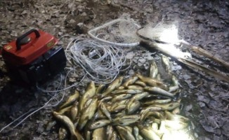 Jeneratörle balık avına 10 bin lira ceza