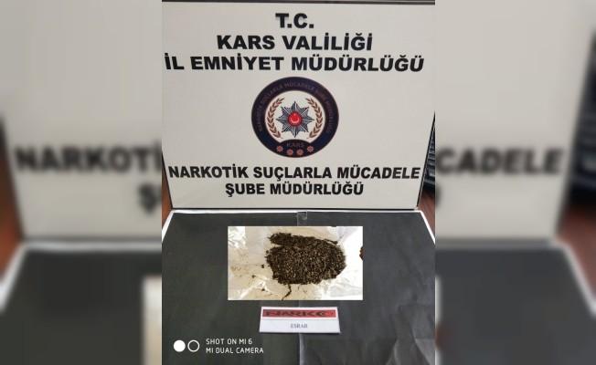 Kars'ta 2 kişi üzerinde uyuşturucu yakalandı