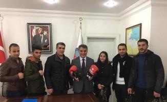 Kickboks ve Muaythai sporcularından Kaymakam Özkan'a ziyaret