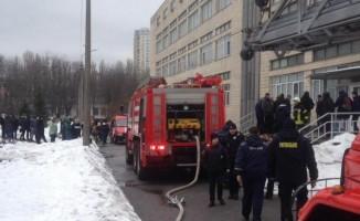 Kiev'de Türk öğrencilerin ağırlıklı olduğu üniversitede yangın çıktı