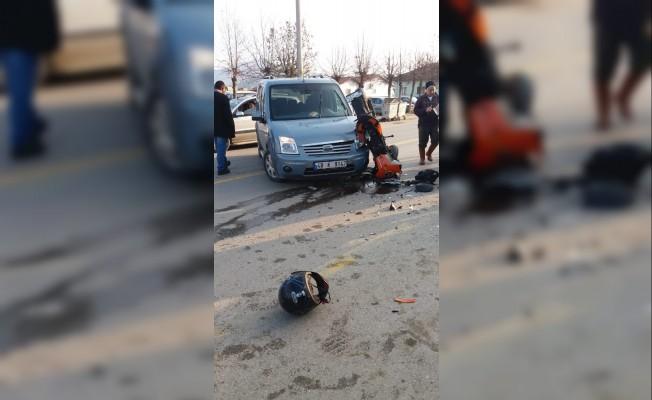 Köyceğiz'de otomobille, motosiklet çarpıştı: 1 yaralı