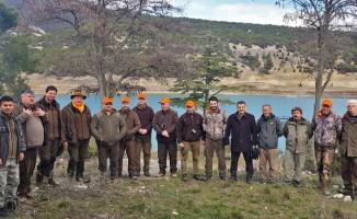Macar avcılar, Isparta'da yaban domuzu sürek avı yaptı