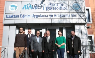 Rektör Çomaklı ATAUZEM'i ziyaret etti