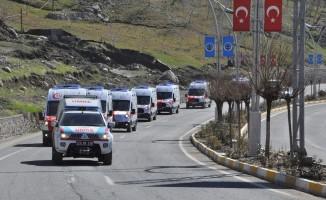 Şırnak'ta 6 yeni ambulans hizmete girdi