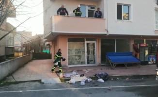Tekirdağ'da yalnız bırakılan çocuk evi yaktı