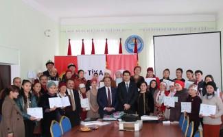 TİKA'dan Kırgızistan'da kadın istihdamına destek