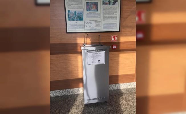 Trakya Üniversitesi'nde su sebili ile plastik kullanıma dikkat çekildi