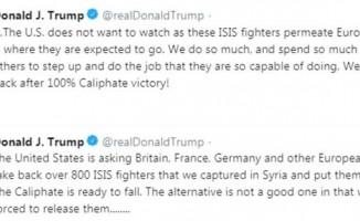 Trump, AB'den DEAŞ militanlarını geri alarak yargılamalarını istedi