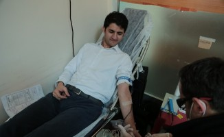 VASKİ personelinden kan bağışı