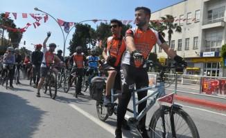 """""""Bisikletçiler görevde, hedef temiz çevre"""" bisiklet turu"""