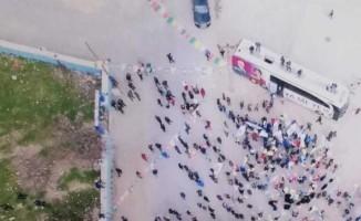 HDP'nin Diyarbakır'daki mitinglerine vatandaşlar ilgi göstermedi