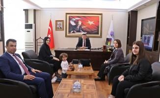 Şehit Murat Akdemir'in ailesinden Ürkmezer'e ziyaret
