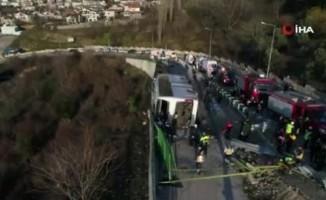 Uludağ'da otobüs devrildi: 9 yaralı