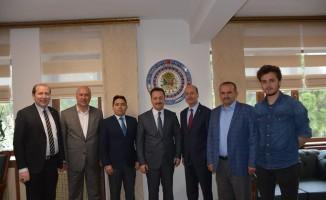 Başkan Bozkurt ve Kaymakam Kaya'dan Vali Şentürk'e ziyaret