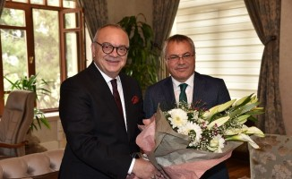Başkan Ergün'den Vali Deniz'e ziyaret
