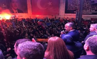 Bursa'da Alinur Aktaş coşkusu