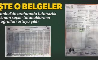 İstanbul'da aralarında tutarsızlık bulunan seçim tutanaklarının fotoğrafları ortaya çıktı