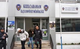 Kablo hırsızlarına polisten suçüstü