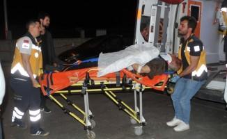 Bafra'da kamyonet devrildi: 2 yaralı