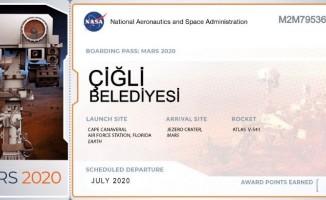 Çiğli Belediyesinden dikkat çeken Mars bileti paylaşımı