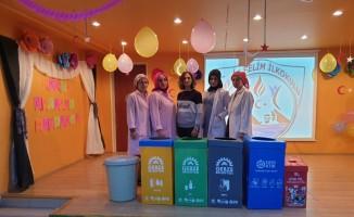 Gebze Belediyesi'nden öğrencilere geri dönüşüm eğitimi