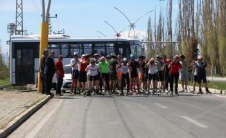 Gençlik koşusu ve tekerlekli Kayaklı Koşu yarışması yapıldı