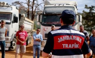 Muğla'da kamyon ve çekici şoförlerine trafik eğitimi