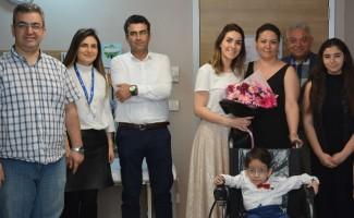 Omurilik açıklığı hastası Mehmet'e anlamlı hediye
