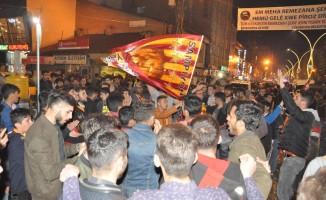 Yüksekova'da Galatasaray sevinci