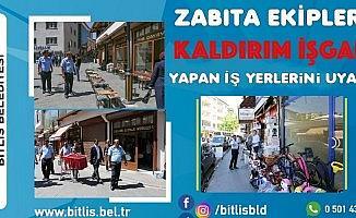 Bitlis'te kaldırım işgali denetimi