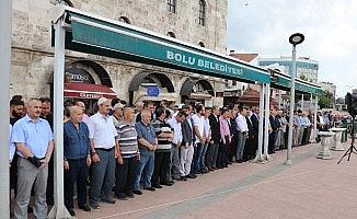 Bolu'da, Muhammed Mursi için gıyabi cenaze namazı kılındı