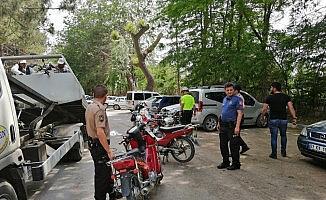 Bolvadin'de Motosiklet Huzur Operasyonu