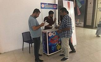Diyarbakır'da yaz spor okulları stantlarına yoğun ilgi
