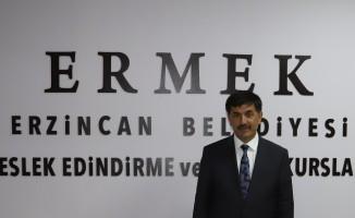 """Erzincan Belediye Başkanı Aksun: """"ERMEK kursları devam edecek"""""""