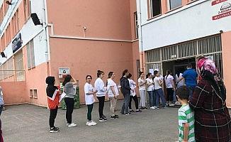 Fatsa'da gerçekleşen ilk sınava velilerden teşekkür
