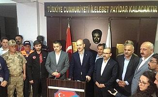 """İçişleri Bakanı Soylu: """"Çalışmalar yarın sabah itibariyle kaldığı yerden devam edecek"""""""
