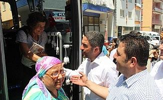 İstanbul seçimlerinde oy kullanan Malatyalılara coşkulu karşılama