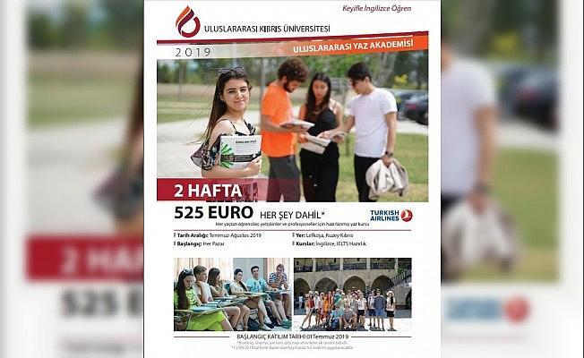 Kıbrıs Üniversitesinde yaz akademisi başlıyor