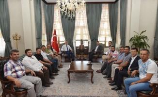 Kilis Belediyespor yönetiminden Vali Soytürk'e ziyaret